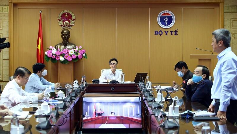 Cuộc họp sáng 20/4 của Ban Chỉ đạo quốc gia phòng, chống dịch bệnh COVID-19. Ảnh: VGP