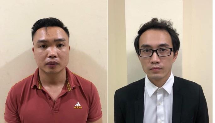 Hai đối tượng Long, Tuấn trong vụ án.