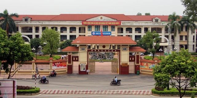 Trụ sở UBND huyện Vĩnh Tường, nơi cơ quan công an bắt quả tang đoàn thanh tra Bộ Xây dựng nhận tiền doanh nghiệp (Ảnh tư liệu).