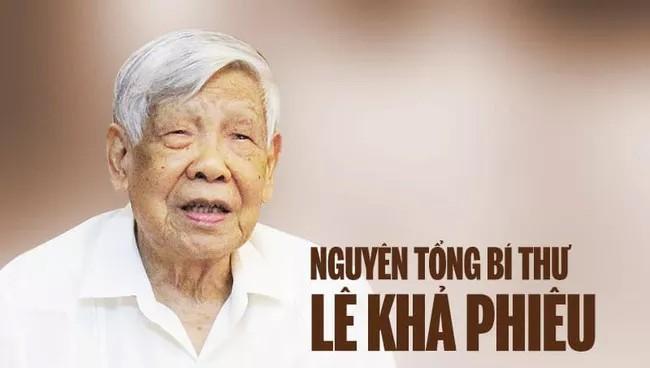 Nguyên Tổng Bí Lê Khả Phiêu.