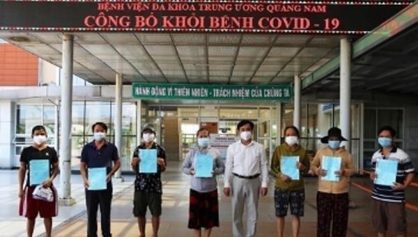 có 7 trường hợp tại Bệnh viện Đa khoa Trung ương Quảng Nam vừa được công bố khỏi bệnh.