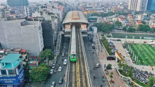 Tàu đường sắt đô thị Cát Linh- Hà Đông vận hành 287 lượt/ngày ảnh 1
