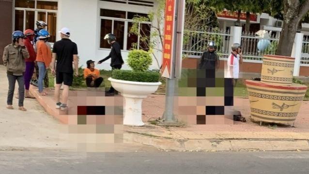Công an xác minh nguyên nhân người tử vong trước cổng trụ sở UBND huyện
