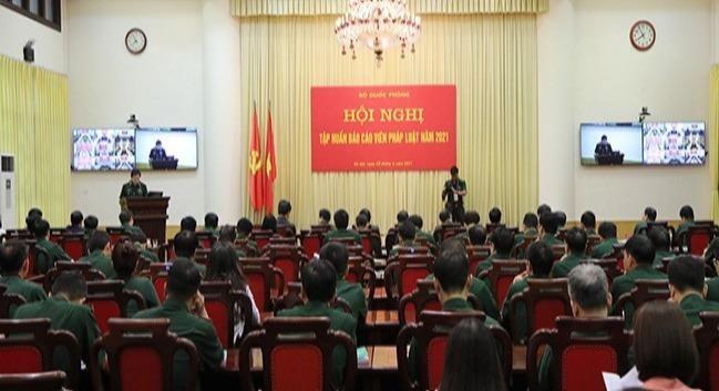 Bộ Quốc phòng  tập huấn báo cáo viên pháp luật năm 2021