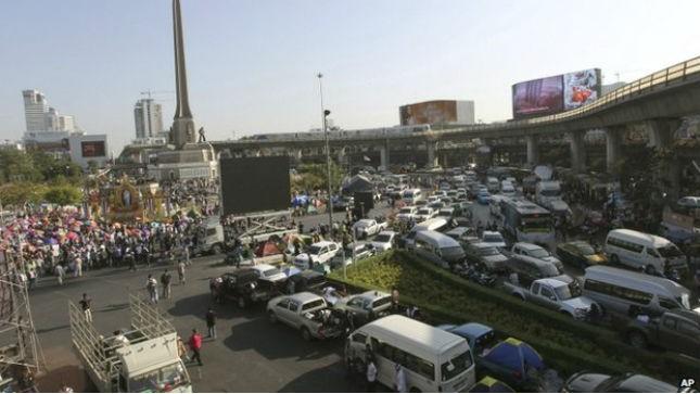"""Người biểu tình Thái Lan bắt đầu """"đóng cửa"""" Bangkok"""