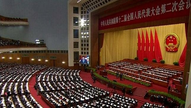 Thủ tướng Trung Quốc Lý Khắc Cường phát biểu tại phiên họp sáng 5/3