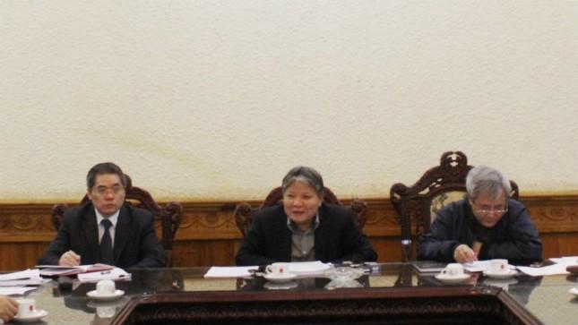 Bộ trưởng Bộ Tư pháp, Trưởng ban chỉ đạo Hà Hùng Cường tại phiên họp