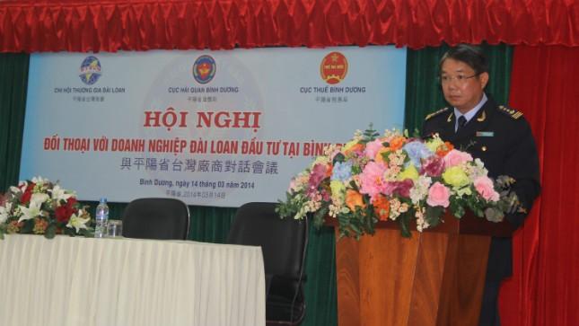 Ông Nguyễn Phước Việt Dũng phát biểu tại Hội nghị đối thoại hải quan - doanh nghiệp Đài Loan