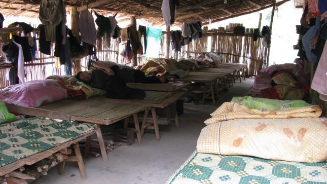 Khu nội trú của học sinh Nậm Ban. Ảnh:Hà Trang
