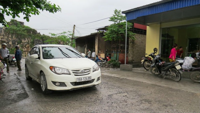 Chiếc xe ô tô của Lương Thanh Hải và hiện trường vụ án