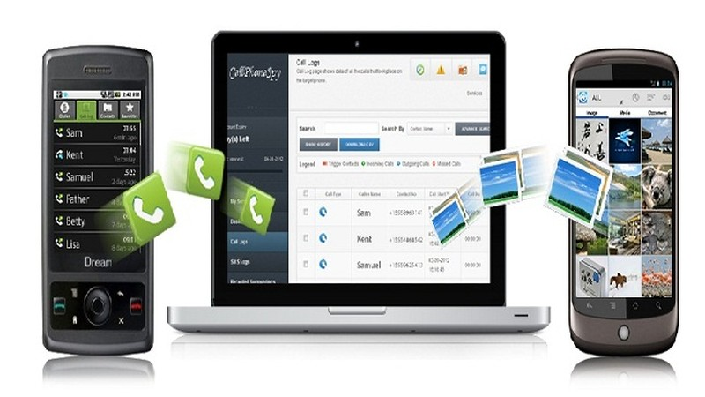 Ảnh mô tả hoạt động của phần mềm nghe lén điện thoại trên trang web  spyphonevn.com (chiều 16/6/2014)