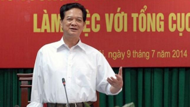 Thủ tướng Nguyễn Tấn Dũng trong buổi  làm việc với Tổng cục Thuế