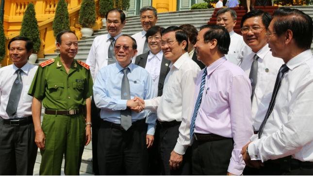 Chủ tịch nước Trương Tấn Sang và một số lãnh đạo Liên đoàn Luật sư Việt Nam