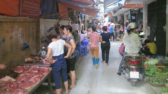 Khu vực chợ tạm Thanh Xuân Nam đang được quy hoạch