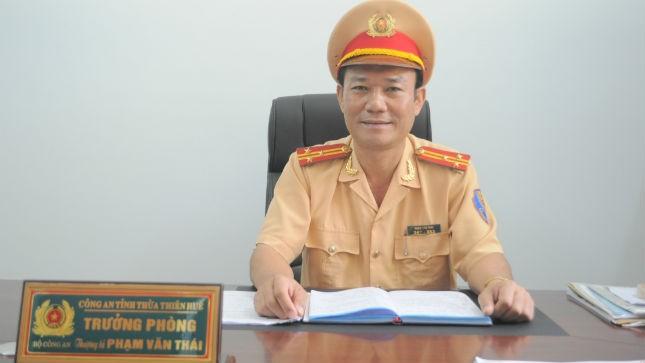 Thượng tá Phạm Văn Thái, Trưởng phòng CSGT Thừa Thiên Huế