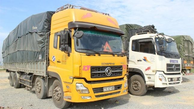 Các xe quá tải bị bắt giữ tại Hà Tĩnh