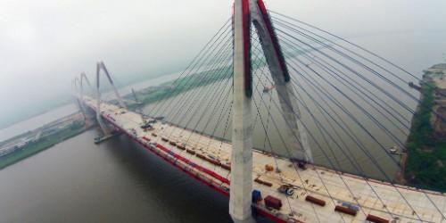 Cầu Nhật sẽ còn một tên gọi khác là cầu Hữu nghị Việt- Nhật. Ảnh: Zing
