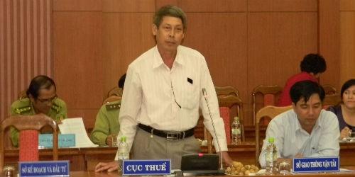 Ông Lương Đình Đường, Phó cục trưởng Cục Thuế tỉnh Quảng Nam trả lời vụ nợ thuế của Tập đoàn Besra Việt Nam tại buổi họp báo chiều ngày 30/9