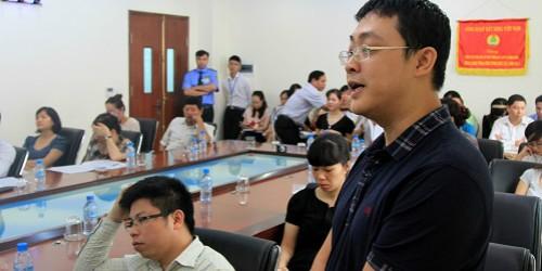 Ông Lê Anh Tuấn trong phiên họp Đại hội đồng cổ đông bất thường ngày 25/9