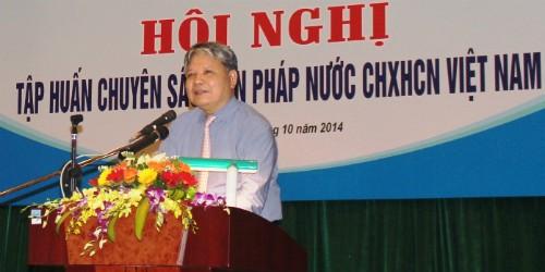 Bộ trưởng Hà Hùng Cường phát biểu tại hội nghị