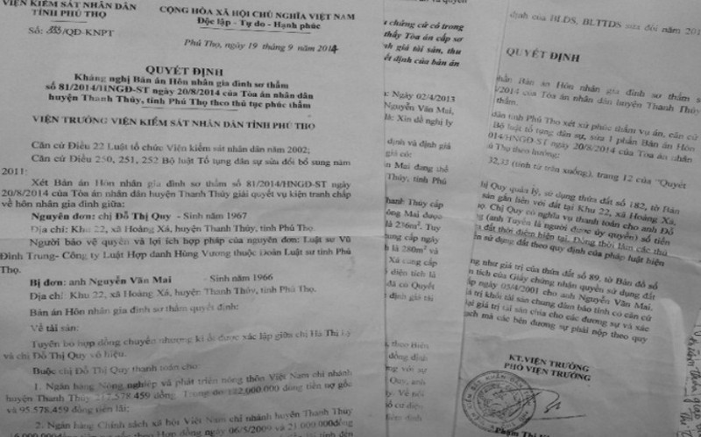 Phú Thọ: Tòa sơ thẩm vi phạm định giá, thu thập, đánh giá chứng cứ