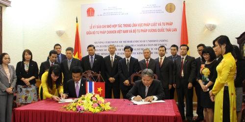 Tăng cường quan hệ hợp tác tư pháp Việt Nam - Thái Lan
