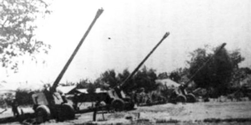 Trận địa pháo 130mm pháo kích Bộ Tổng tham mưu Quân đội Sài Gòn sáng 30/4/1975