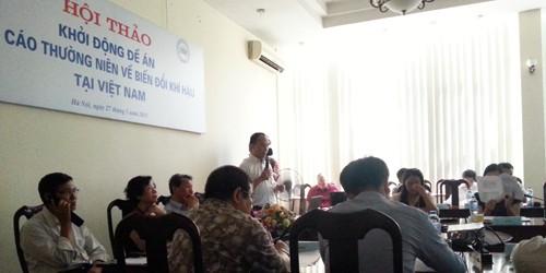 Khởi động Đề án xây dựng Báo cáo thường niên về Biến đổi Khí hậu tại Việt Nam