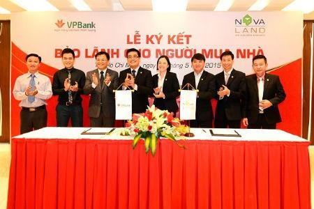 Novaland ký kết với ngân hàng bảo lãnh cho người mua nhà