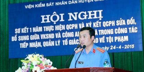 Một Viện trưởng VKSND huyện nhiều sáng kiến