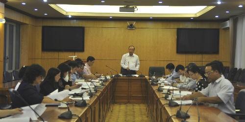Thứ trưởng Phan Chí Hiếu phát biểu tại buổi họp