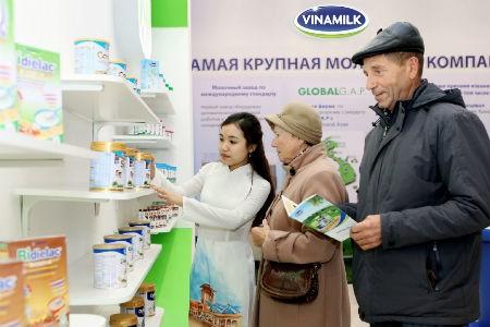 Sản phẩm Vinamilk chiếm được cảm tình của người dân Mátxcơva