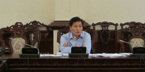 Thứ trưởng Nguyễn Khánh Ngọc phát biểu tại cuộc họp