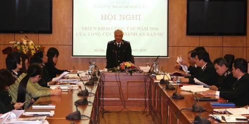 Tổng cục trưởng Hoàng Sỹ Thành chủ trì hội nghị
