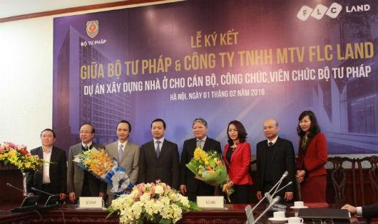 Ký kết Dự án xây dựng nhà ở cho cán bộ Bộ Tư pháp