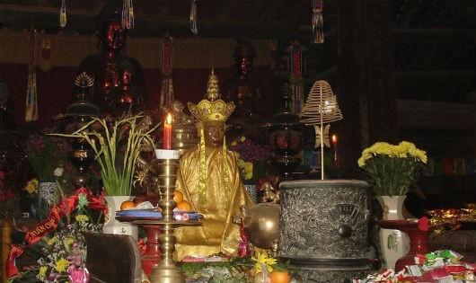 Hình ảnh nguyên bản của Thiền sư Từ Đạo Hạnh hiện được lưu giữ tại chùa Thầy.