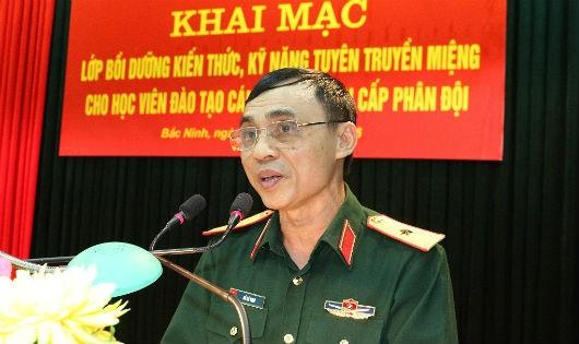 Thiếu tướng Hồ Bá Vinh - Phó Cục trưởng Cục Tuyên huấn - khai mạc Lớp bồi dưỡng