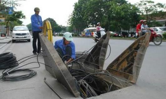 Trong thời gian tới, Hà Nội sẽ đẩy nhanh việc hạ ngầm cáp viễn thông, điện lực