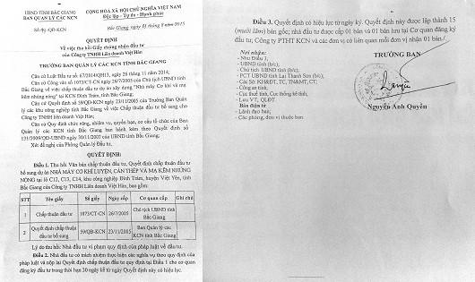 Quyết định của Trưởng ban Quản lý KCN tỉnh bị cho là trái pháp luật