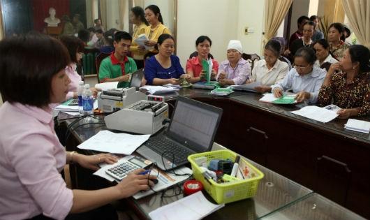 Một buổi giao dịch tại xã Văn Tiến, huyện Yên Lạc, tỉnh Vĩnh Phúc