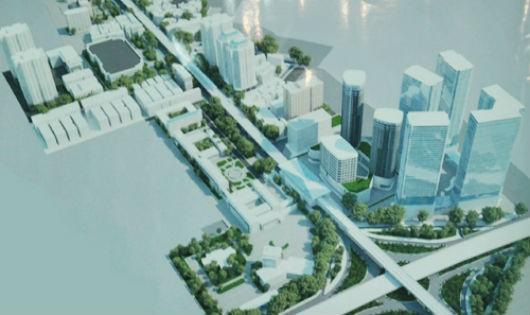 Phối cảnh thiết kế đô thị hai bên tuyến đường Xuân Thủy