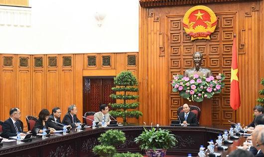 Thủ tướng Nguyễn Xuân Phúc tiếp Đoàn đại biểu Ủy ban Kinh tế Nhật-Việt thuộc Liên đoàn Kinh tế Nhật Bản (Keidanren)