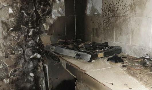 Khu bếp cháy nham nhở