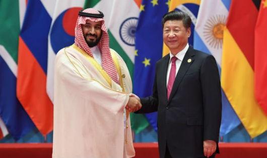 Chủ tịch Tập Cận Bình và Bộ trưởng Quốc phòng, Hoàng tử Ả rập Xê-út Mohammed bin Salman