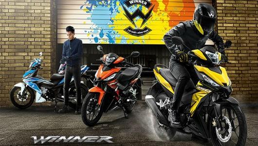 Honda Winner tung thêm 3 màu mới để cạnh tranh với Exciter