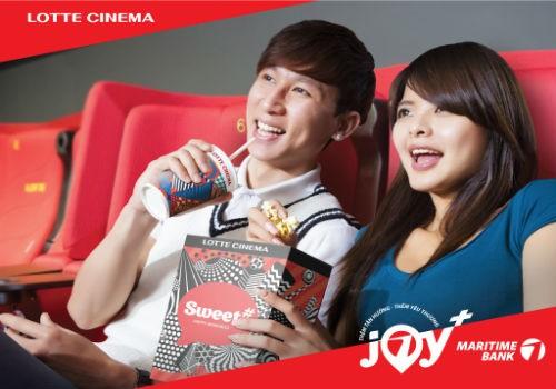 Hoàn tiền 50% cho chủ thẻ quốc tế Maritime Bank khi thanh toán tại hệ thống rạp Lotte Cinema