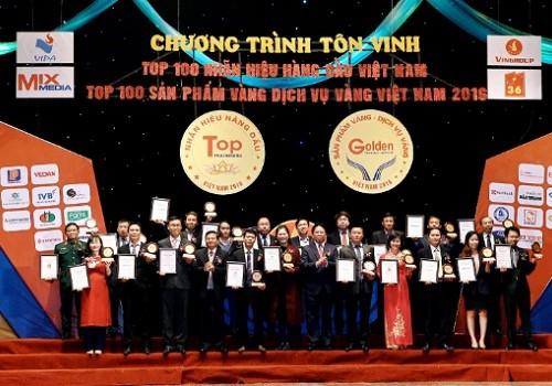 """Vedan Việt Nam lần đầu tiên được vinh danh """"Top 100 nhãn hiệu hàng đầu Việt Nam"""""""