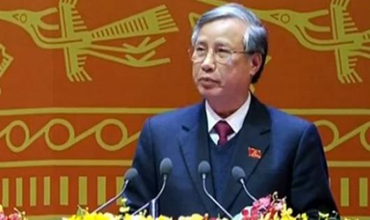 Đồng chí Trần Quốc Vượng, Ủy viên Bộ Chính trị, Bí thư Trung ương Đảng, Chủ nhiệm Ủy ban Kiểm tra Trung ương chủ trì kỳ họp công bố kết luận