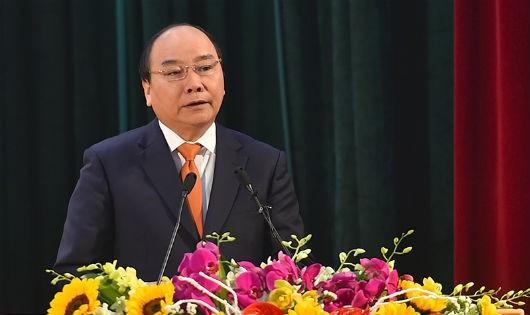 Thủ tướng Nguyễn Xuân Phúc phát biểu tại lễ kỷ niệm. Ảnh: VGP