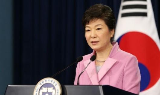 Tổng thống Hàn Quốc Park Geun-Hye. Ảnh Reuters